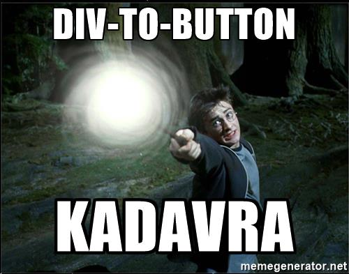 Image of Harry Potter turning a div into a button
